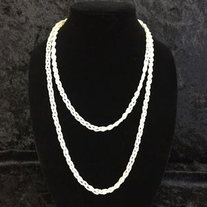Jewelry - Vintage Braided Seed Bead Necklace (f012)